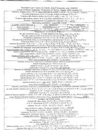 [MB] Calcolo delle probabilità - Formulario completo