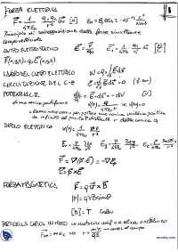 [MB] Fisica Generale 2 - Prontuario con Definizioni e Dimostrazioni, Schemi e mappe concettuali di Fisica Generale II