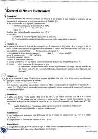 [MB] Misure elettroniche - Esercitazioni e temi d'esame vari