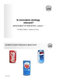 lecture1_smi2009 - strategia innovazione