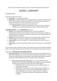 Tecniche di Osservazione del comportamento infantile - Slides + Appunti