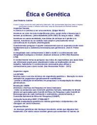 Ética e Genética , Notas de estudo de Psicologia