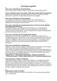Psicologia cognitiva, risposte capitoli 1-6, Nicoletti