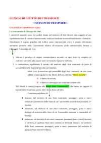 Sintesi di diritto dei trasporti prof. Zunarelli