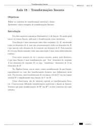 Apostila de Álgebra linear III, Notas de estudo de Engenharia de Produção