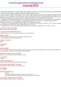 Curso de conserto de aparelho de DVD, Notas de estudo de Cultura