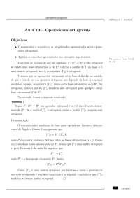 Aulas - CEDERJ - Álgebra Linear, Volume2, de 19 a 32, Notas de aula de Física