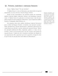 Aulas - CEDERJ - Álgebra Linear 01a07, Notas de aula de Física