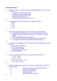 Dispensa - Chimica - Quesiti di chimica risolti e commentati - Prof