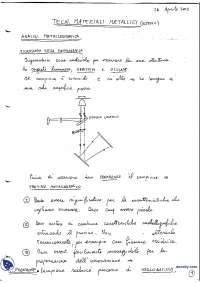 [AP] Tecnologia dei materiali metallici - Esercitazione 4