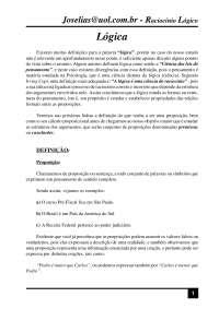 Apostila de lógica, Notas de estudo de Engenharia Elétrica