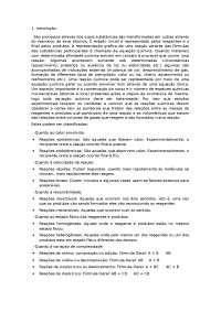 Relatório de evidências de reação, Notas de estudo de Engenharia de Alimentos