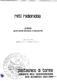 [MB] Reti radiomobili - Appunti