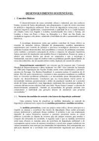 Desenvolvimento Sustentável, Notas de estudo de Engenharia Civil