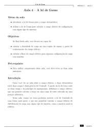 Aula 4 - CEDERJ - Eletromagnetismo e Ótica, Notas de aula de Física