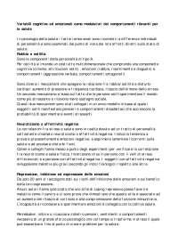 Psicologia della salute - Variabili cognitive ed emozionali come modulatori dei comportamenti [3di12]