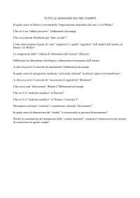 Esonero di isituzioni di Sociologia domande 2009-10 [Roma, Università La Sapienza]