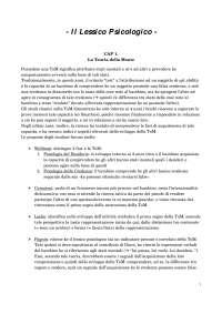 Psicologia dello Sviluppo Cognitivo - Il Lessico Psicologico 1di4