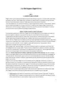 Psicologia dello Sviluppo Cognitivo - Lo Sviluppo Cognitivo 2di4