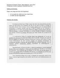 Penal, parte especial, examen, Exámenes de Derecho Penal
