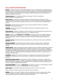Sociologia dei Gruppi [Riassunto esame], Prove d'esame di Sociologia Dei Gruppi