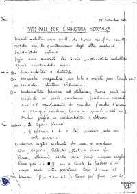 [AP] Materiali per l'industria meccanica - Appunti - Parte 1