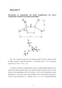 Calcolo automatico dei sistemi meccanici - Esercitazione 4