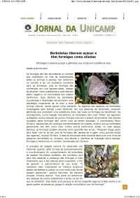 Borboletas liberam açúcar e têm formigas como aliadas, Teses (TCC) de Engenharia Florestal