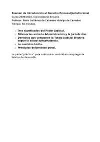 introducción al derecho Procesal / Jurisdiccional