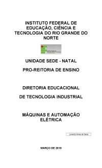 Máquinas elétricas, Notas de estudo de Engenharia Química