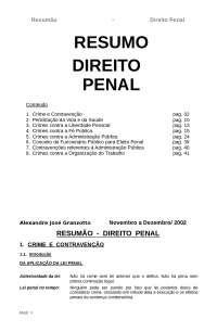 Resumão de dto penal, Notas de estudo de Direito Penal