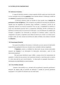 Estimação de parâmetros, Resumos de Engenharia de Produção