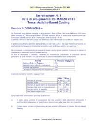 ESERCITAZIONE 1A - Programmazione e controllo - Testo