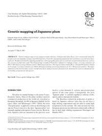 Genetic mapping of Japanese plum, Manuais, Projetos, Pesquisas de Engenharia Agronômica