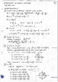 [MB] Introduzione all'analisi complessa - Esercitazioni svolte