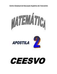 Apostila de matemática 2 - ensino médio - ceesvo, Notas de estudo de Química