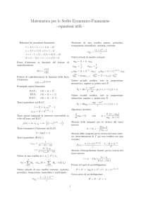 Formulario matematica finanziaria