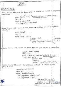 [VM] Basi di dati - Esercitazione 5 - Esercizi risolti di SQL