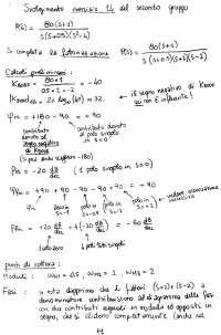 Esercitazioni ed Esercizi - Controlli Automatici - Diagrammi di Bode - prof. Menini