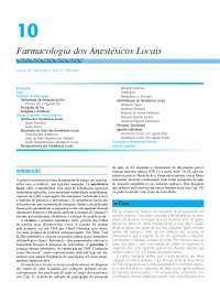 Farmacologia dos anestésicos locais, Notas de estudo de Farmacologia