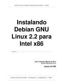 Debian GNU, Notas de estudo de Design