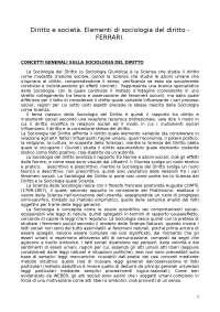 Diritto e società (Ferrari)