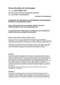 A inserção da enfermeria no atendimento pré-hospitalar h (1), Manuais, Projetos, Pesquisas de Enfermagem
