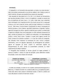 Estudo do manganês e seus principais estados de oxidação, Notas de estudo de Química