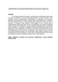 Artigo-A importância da Gestão de Custos Logísticos, Manuais, Projetos, Pesquisas de Logística