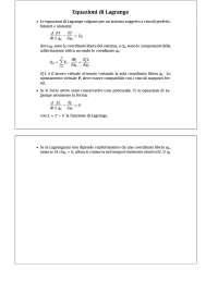 Le equazioni di Lagrange