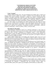 zoologia geral, Notas de estudo de Agronomia
