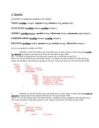 Prova Banco de Dados I - UECE, Transcrições de Informática
