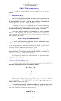 Eletromagnetismo, Notas de estudo de Eletromagnetismo