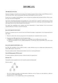 Estrutura de dados - Arvores AVL, Notas de estudo de Informática